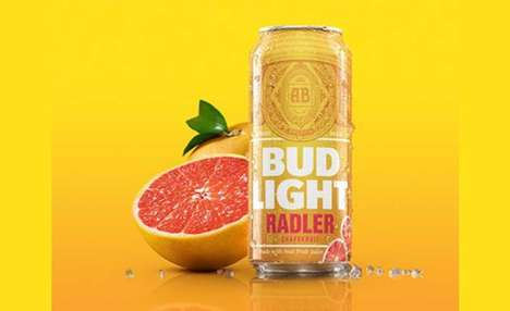 Citrus Juice-Infused Beers - The Bud Light Radler Beer Arrives Just in Time for Warmer Weather