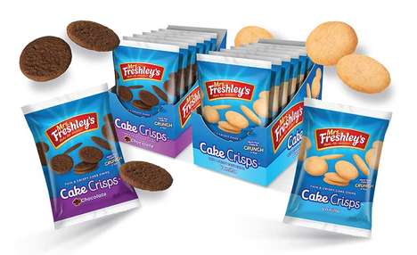 Crunchy Cake Cookie Snacks - The Mrs. Freshley's Cake Crisps are a Light and Satisfying Snack