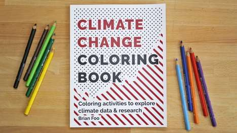 Climate Change Coloring Books - Brian Foo's Climate Change Coloring Book Highlights the Environment
