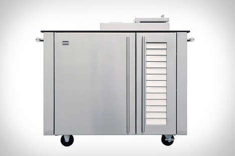 Automated Meat Smokers - The Kalamazoo Meat Smoker Cabinet Hybrid Fuel to Prepare Foods