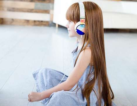 Customizable Kids Headphones - The Seedling DIY Art Headphones Let Users Create Custom Patterns