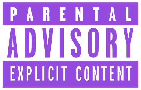 Memorializing Advisory Labels - Studio Brussel Created a Purple Parental Advisory Label for Prince