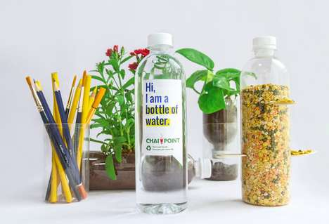 Repurposed Water Bottle Designs - Chai Point Offers Instructions on Repurposing Its Water Bottles