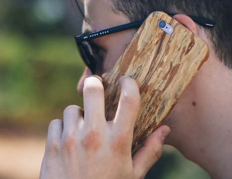 Reclaimed Wood Smartphone Cases - 'Kerf Cases' Creates Device Cases in Pittsburgh from Solid Wood