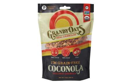 Solar-Powered Bakery Granolas - The GrandyOats 'Coconola' Coconut Granola Cereal is Grain-Free