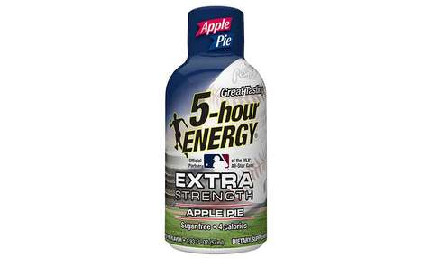 Major League Energy Shots - These Apple Pie Extra Strength 5-hour ENERGY Shots are MLB-Branded