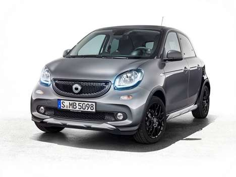 Ruggedly Stylish City Cars - The Smart ForFour Crosstown Edition Features Detachable Off-road Parts