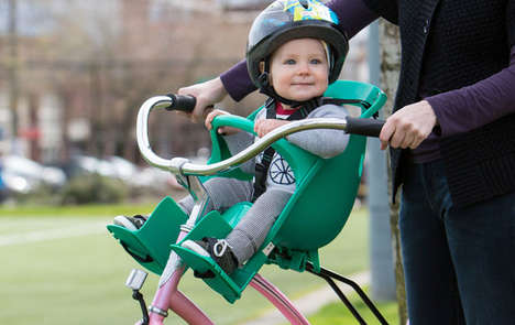 Ergonomic Child Bike Seats - The Shell Child Carriers Fit onto the Front or Back of Bikes