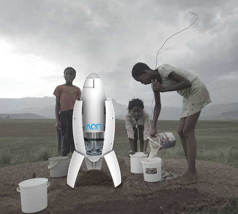 Water-Supplying Dehumidifiers - The 'AQR' Air Water Collectors Draw Fresh Water from the Air