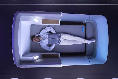 Reengineered Airline Beds - The Simba Air-Hybrid Focuses on Comfort for Sleeping on a Plane