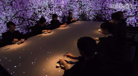 Multi-Sensory Dining Installations - This teamLab Experience Makes Mealtime Highly Interactive