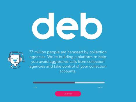 Debt Collector Management Platforms - The 'Deb' Platform Helps Users Manage Debt to Alleviate Stress