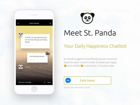 Mood-Enhancing Chatbots - The 'St.Panda' Chatbot Instils Happiness Habits Through Simple Chats