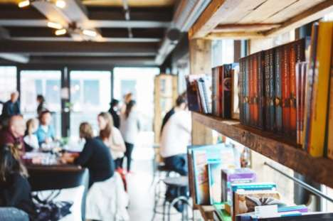 Promotional Pop-Up Libraries - Amazon Created a Free Book Swap Event in a Cafe for World Book Day