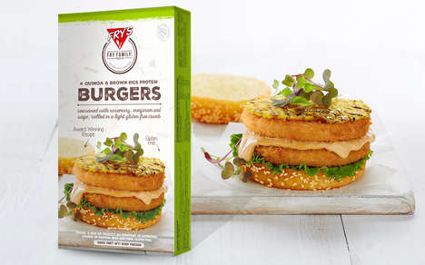 Ancient Grain Burger Patties - The Fry's Quinoa & Brown Rice Protein Burgers are Plant-Based