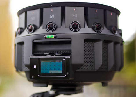 HD 360-Degree VR Cameras - The 'YI HALO' Camera Video System Has 17 Camera Units in All