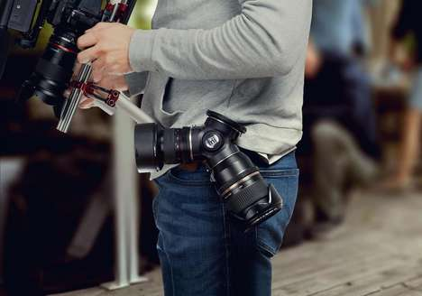 DSLR Lens Holsters - The 'TriLens' Triple Lens Holder Puts Lenses within Quick Reach