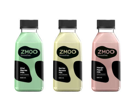 Fruity Milk Smoothies - Zmoo's Makes Dairy Smoothies with a Focus on Fruit Flavors