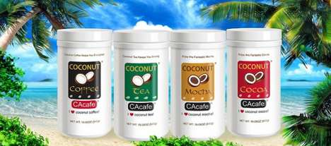 Coconut-Infused Hot Beverages - The CAcafe Coconut Tea and Coffee Supports a Healthy Lifestyle