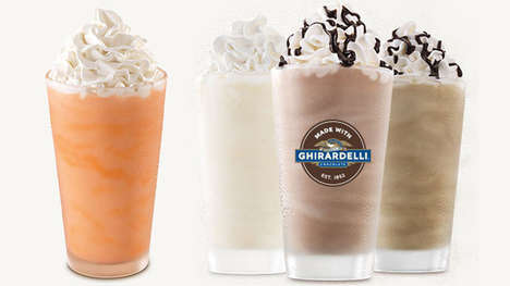 Premium Fast Food Milkshakes - These New Arby's Milkshakes are Infused with Ghirardelli Chocolate