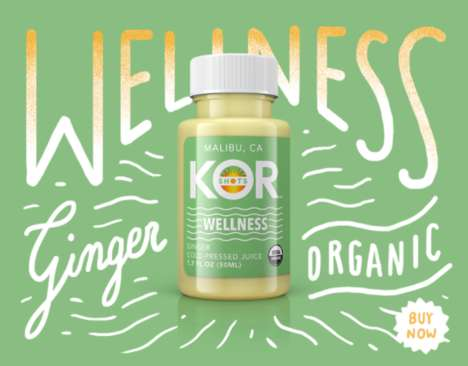 On-the-Go Superfood Shots - KOR Shots' Health Shots Make It Easy to Consume Ginger, Charcoal & More