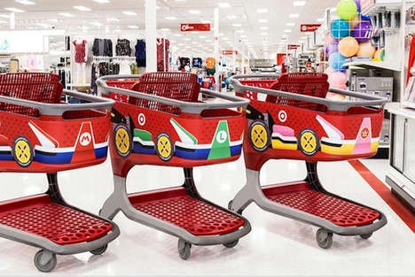 Promotional Gaming Store Experiences - Target is Celebrating Mario Kart 8 Deluxe with Themed Accents