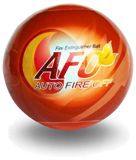 Fire Suppressant Spheres - The AFO Fire Ball ABC Fire Extinguisher Keeps You at a Safe Distance
