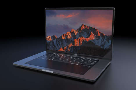 Conceptual Touchscreen Keyboard Laptops - This MacBook Pro 2018 Concept Features a Touchpad Keyboard