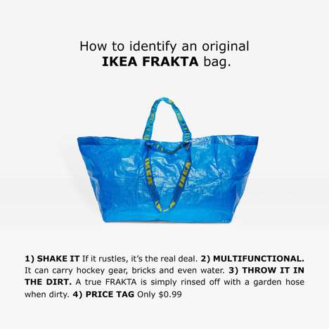 Bag Differentiation Guides - This Guide Distinguishes the IKEA Frakta from a High-Fashion Look-Alike