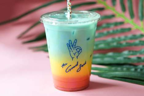Healthy Rainbow Lattes - The Good Sort in NYC Released an Iced Drink That's Topped with Confetti