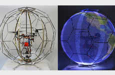 Light-Up Spherical Drones