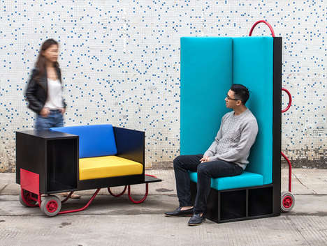 Trolley-Inspired Furniture - The CL3 x Lim + Lu Movable Furniture Can be Lifted and Rolled