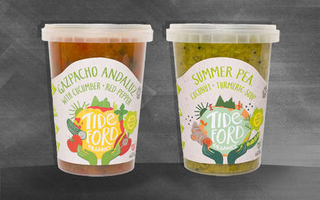 Ethical Summer Soups - The Tideford Organics Vegetable Soups are Packed with Flavorful Ingredients