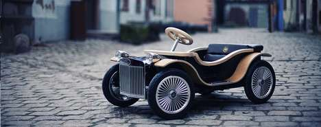 Luxury British Kids Cars - The D.Thone Features Leather Seats and Real Wood