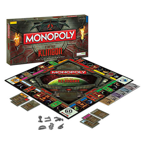 Bilingual Intergalactic Board Games - Star Trek Klingon Monopoly Can be Played in English or Klingon