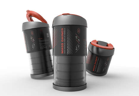 Collapsing Protein Containers - The 'CORE' Protein Shaker Bottle Prevents Mess When Fixing a Shake