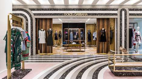 Deco Department Store Interiors - India Mahdavi's Design for KaDaWe Features Colored Quartz