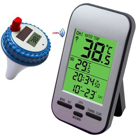 Temperature-Tracking Pool Accessories - The Yowosmart Wireless Pool Thermometer is Precise