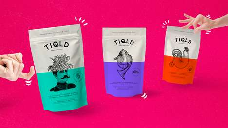 Offbeat Indian Spice Pouches - TIQLD's Playful Packaging Adds Personality to Classic Spice Mixes