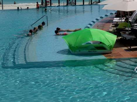 Solar Protection Pool Toys - The 'AquaCabana' Floating Cabana Protects from UV Rays on the Water