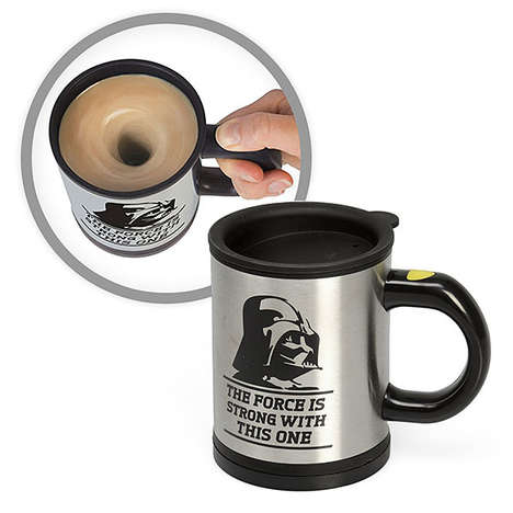 Sci-Fi Self-Stirring Mugs - The Darth Vader Self-Stirring Mug Lets Drinkers Use the Force