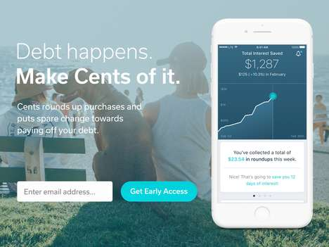 Debt-Reducing Apps - The 'Cents' App Uses Spare Change to Pay Down Debt You've Accumulated