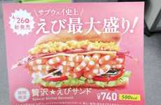 The Subway Japan Special Shrimp Sandwich is Packed with Seafood