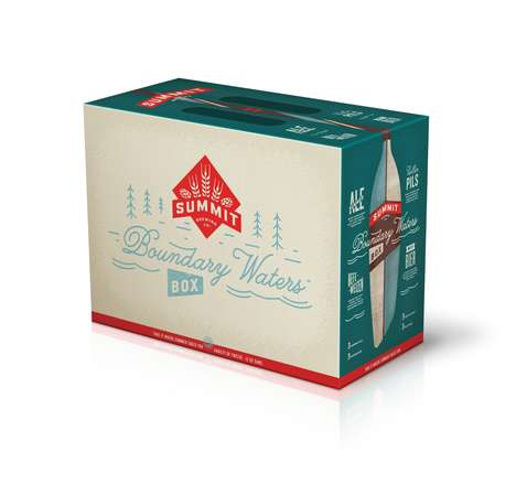 Lakeside Beer Packs - This Beer Box from Summit is Branded as 'Boundary Waters'