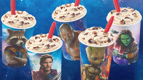 Intergalactic Ice Cream Promotions - The Dairy Queen Guardians Awesome Mix Blizzard Treat is Tasty