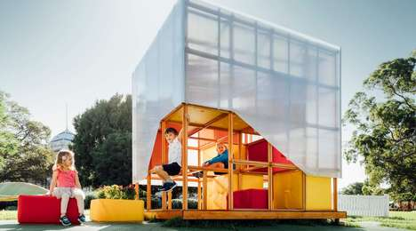 Modular Kid-Friendly Playhouses - Grimshaw's 'MySpace' Cubby House Lets Kids Design Their Play Space