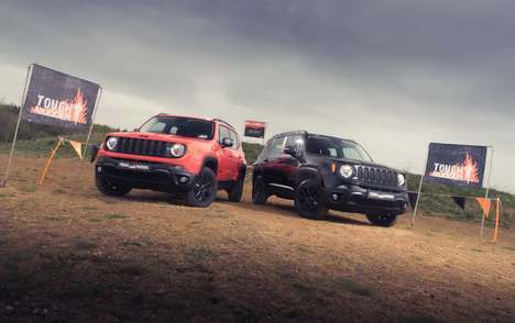 Rugged Obstacle Course SUVs - The Jeep Renegade Tough Mudder is Designed for Those Who Compete Dirty