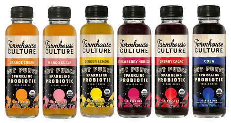 Effervescent Probiotic Drinks - Farmhouse Culture's 'Gut Punch' is Naturally Sweetened with Stevia