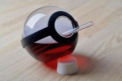 Elegant Gamer Drinking Glasses - This Pokeball Cocktail Glass is Designed for Grown-up Geeks