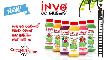 Coconut Fusion Beverages - Invo's Coconut Water Drinks are Blended with Fruits and Veggies